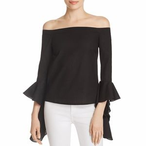 MLM Womens Off-The-Shoulder Cropped Pullover Top